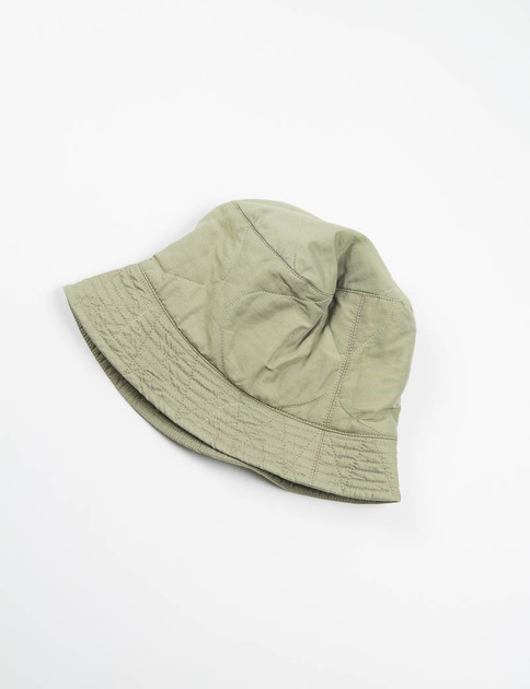 Olive Hourglass Quilted Activecloth Reversible Bucket Hat