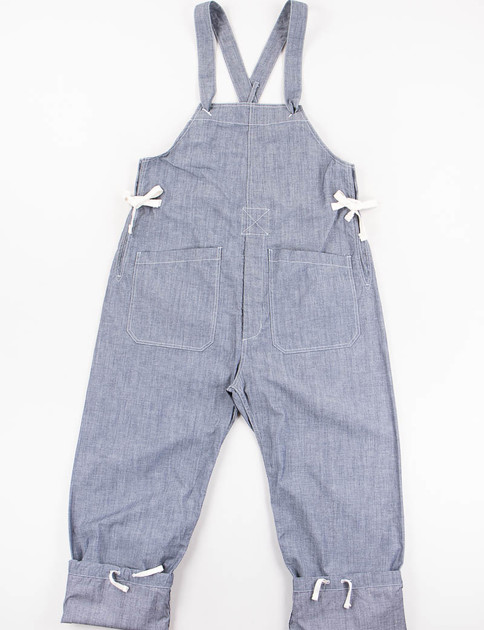 Blue Cone Chambray Overalls