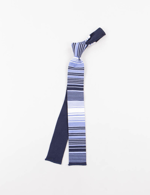 Navy Horizontal Stripe Knit Tie