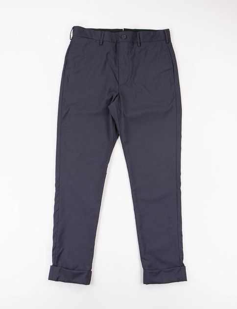 Navy Tropical Wool Cinch Pant
