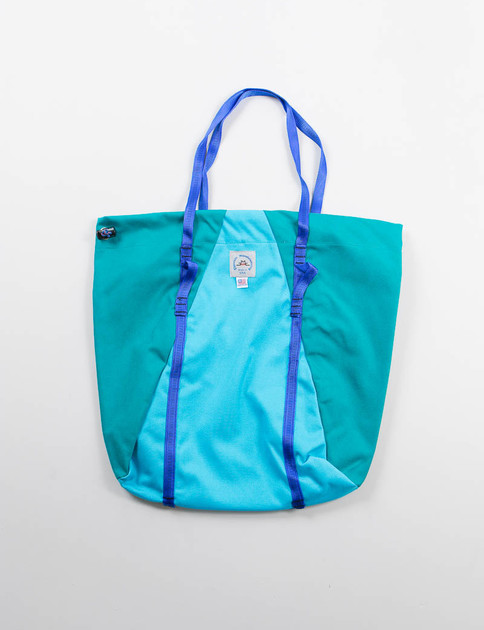 Turquoise/Peacock Camp Tote