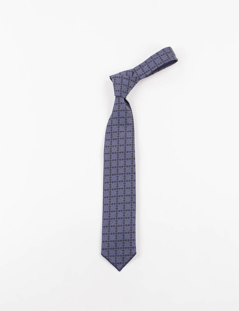 Navy Diamond Jacquard Neck Tie