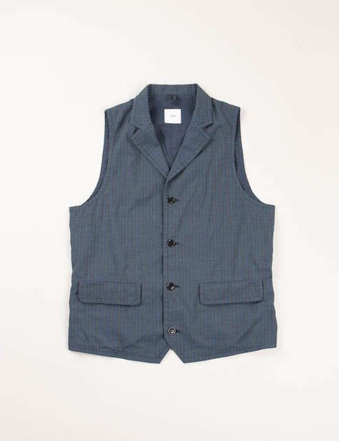 Blue Blurred Stripe Suit Vest