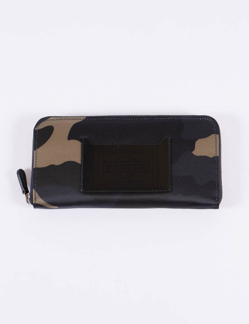 Woodland Olive Camouflage Long Wallet