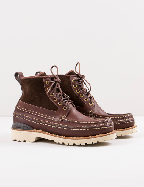 Dark Brown Grizzly Boots Mid Folk