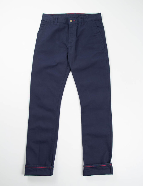 Navy Canvas Jones Trouser