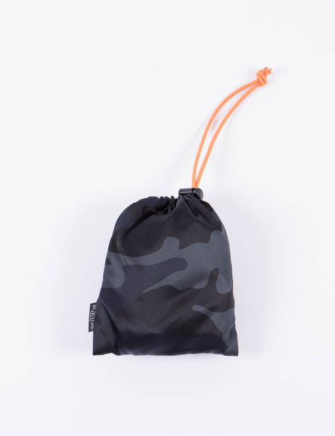 Navy Camo Shopping Bag L