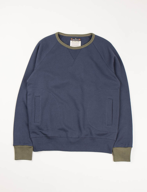Army Gym Dark Navy Crew Neck
