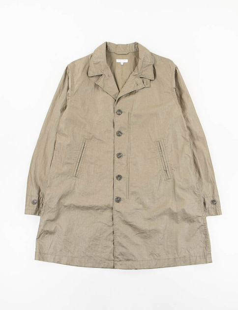 Olive Coated Linen 41 Duster Coat