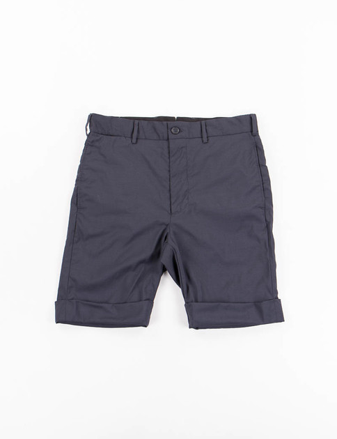 Navy Tropical Wool Cinch Short