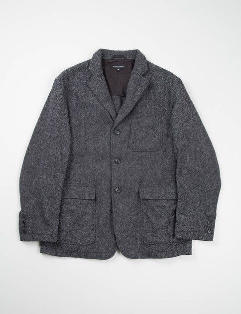 Grey 13oz Wool Flannel Baker Jacket
