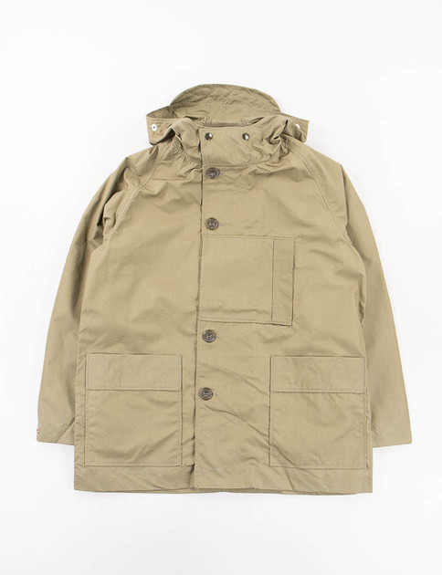 Olive Waterproof Cotton Gabardine Kabig Jacket