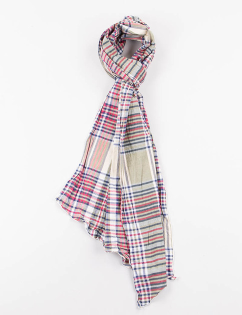Olive/Red/Navy Big Plaid Long Scarf