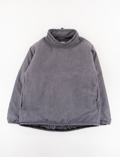 Charcoal HB Flannel Insulated Mock Neck Pullover