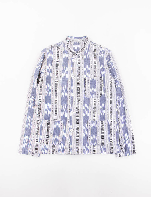 Grey/White Cotton Small Ikat Dayton Shirt