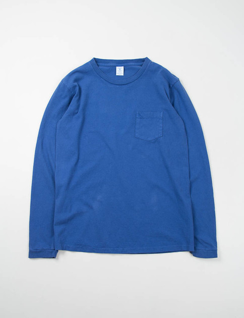 Navy L/S Pocket Tee