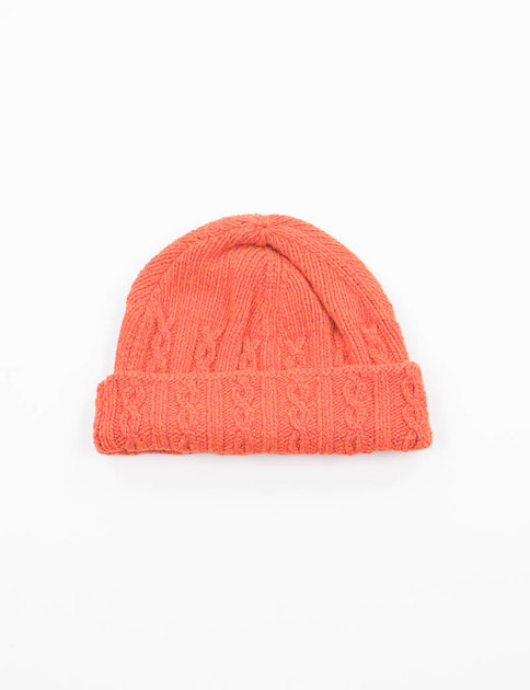 Orange Cable Hat