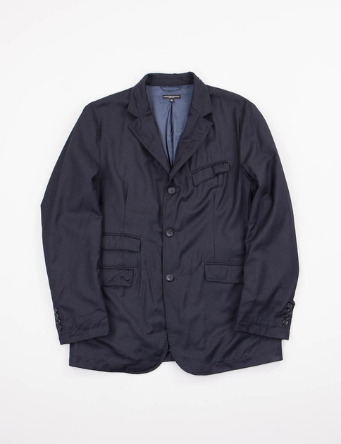 Dark Navy Worsted Wool Andover Jacket