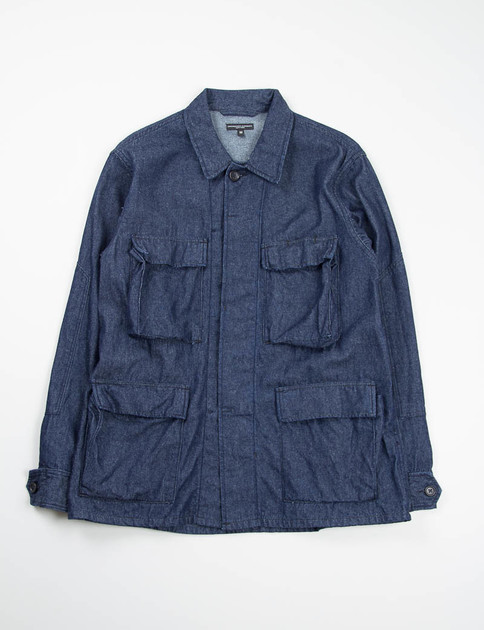 Indigo 8oz Denim BDU Shirt
