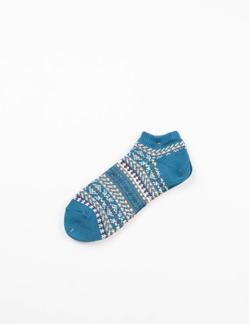 Indigo Pattern Ankle Socks
