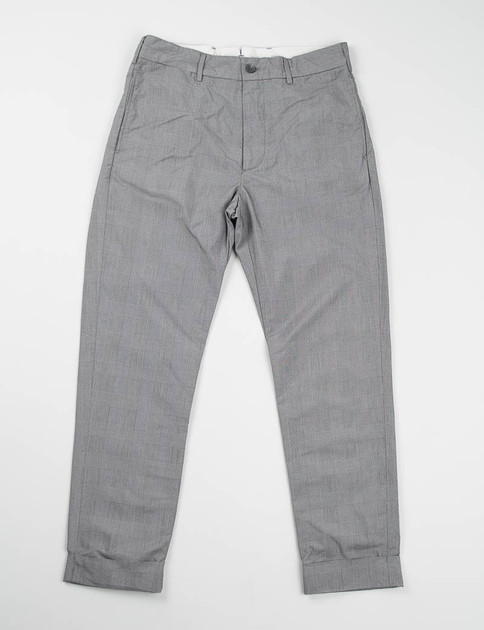 Grey PC Glen Plaid Cinch Pant