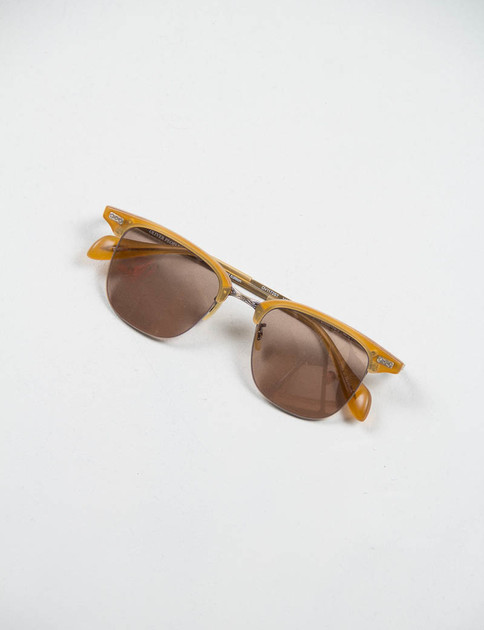 Matte Amber Tortoise/Antique Gold Executive I Sunglasses