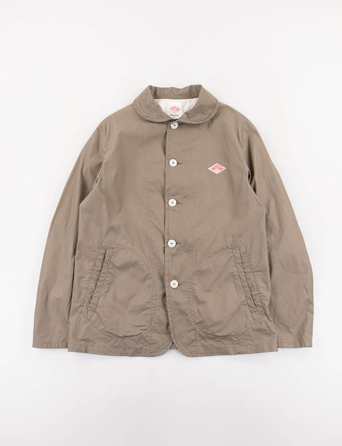 Olive Downproof Round Collar Jacket