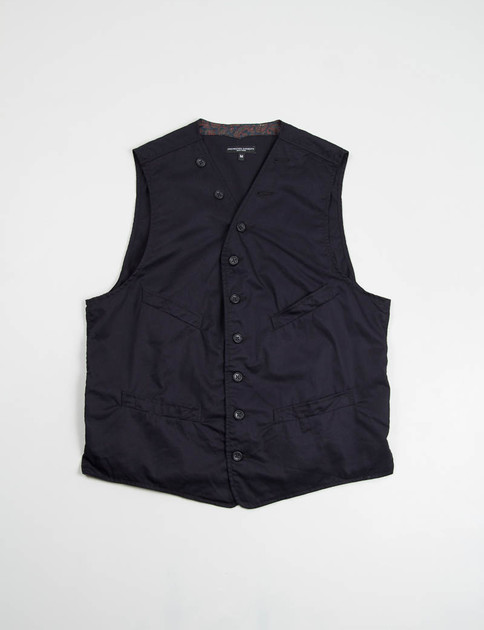Dark Navy High Count Twill Cinch Vest