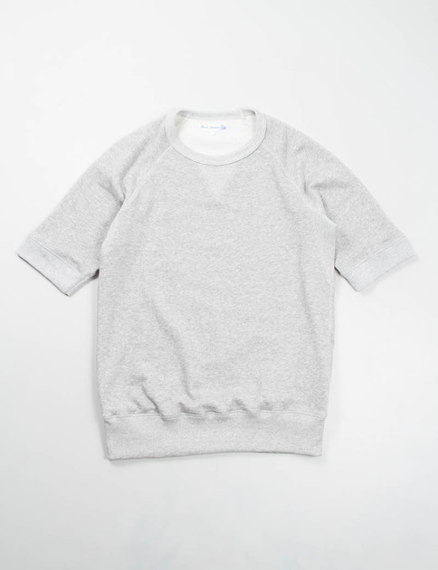 Grey Melange 347 Organic Cotton 1/4 Sleeve Sweater