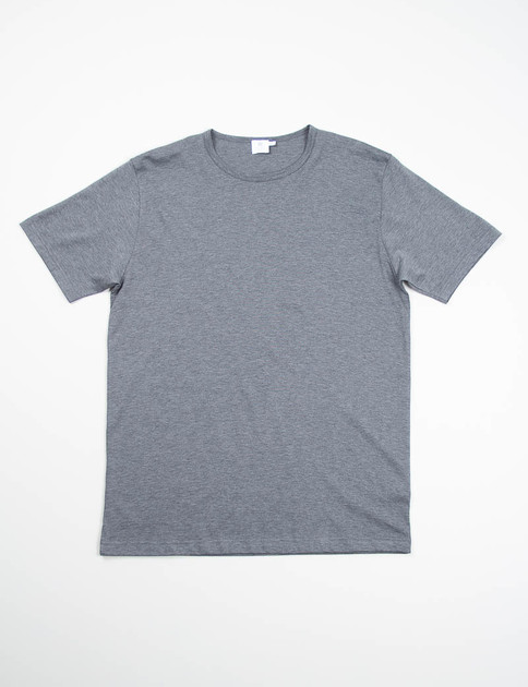Charcoal Melange Crew Neck T–Shirt