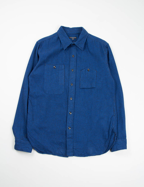 Royal Houndstooth Flannel Work Shirt