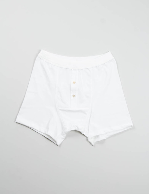 White 255 Button Facing Underpant