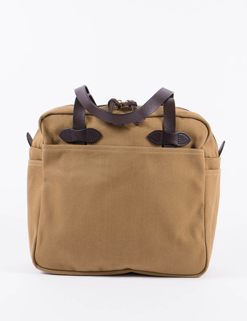 Tan Tote Bag With Zipper