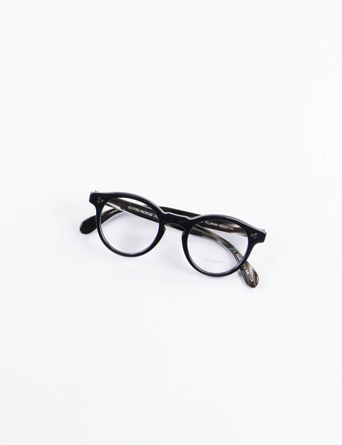 Black/Ebonywood Feldman Optical Frame