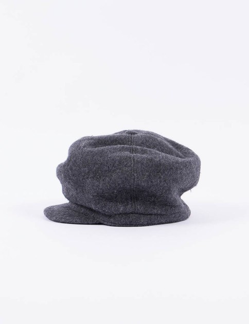 Grey Army Shaggy Cloth Casquette