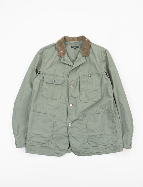 Olive NyCo Ripstop Coverall Jacket