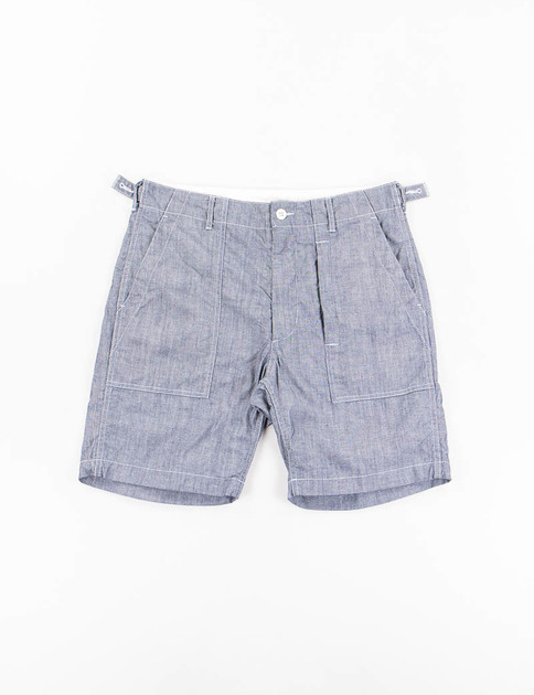 Blue Cone Chambray Fatigue Short