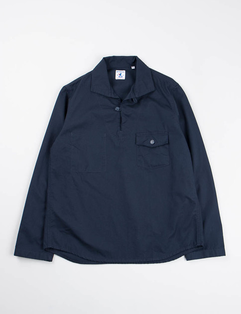 Navy Fine Candle Roscoff Shirt
