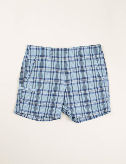 Light Blue/Navy Nyco Plaid Knockabout Short