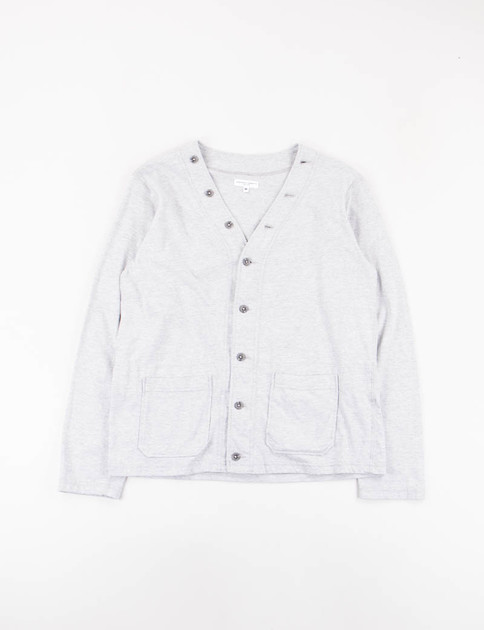 Grey Solid Jersey Knit Cardigan