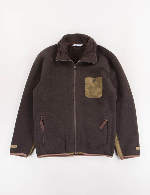 Brown Fleece Blouson
