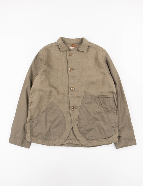 Khaki Linen/Cotton Ringo Man Coverall