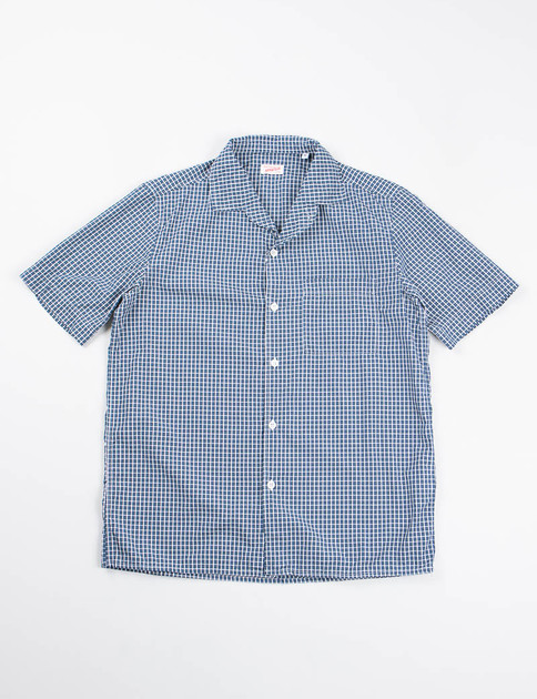 Blue/Green Check Cotton Pyjama Shirt