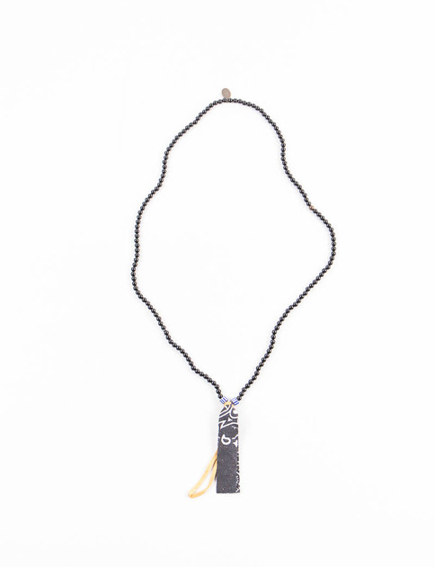 Onyx Suede/Bandana Necklace