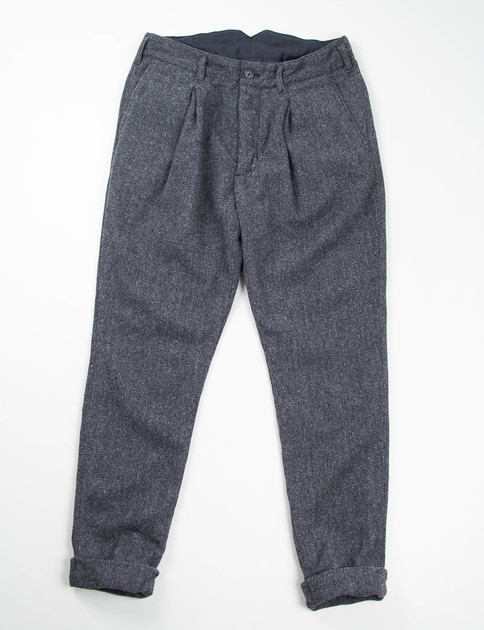 Dark Grey 13oz Herringbone Willy Post Pant