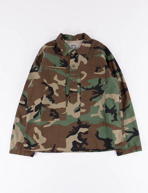 Woodland Camo Cotton Ripstop Army Shirt