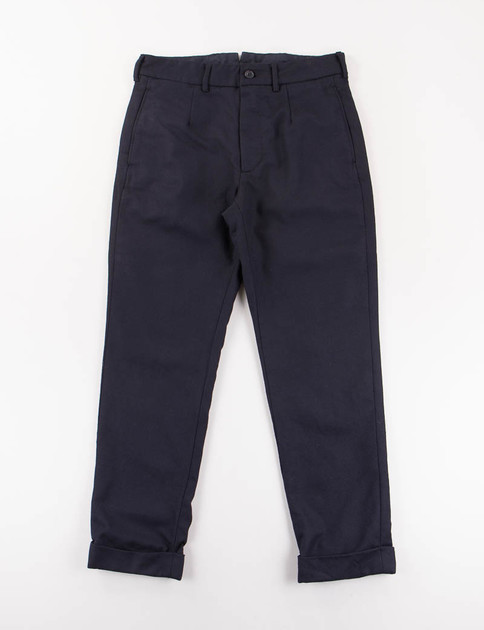 Dark Navy Worsted Heavy Wool Andover Pant