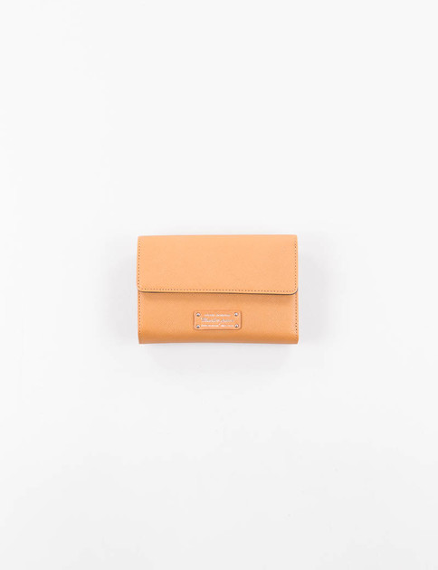 Camel Noble Button Flap Wallet