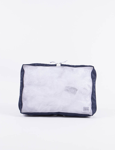 Navy/White Stand Snackpack Pouch L