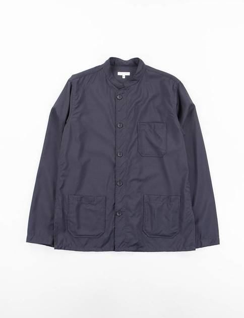Navy Tropical Wool Dayton Shirt